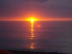 sunset in grand marais