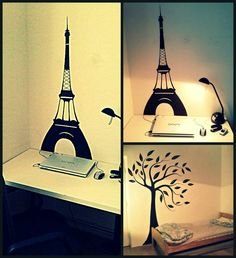 Eiffel tower & Cherry tree