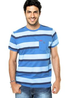 Camiseta Kingster Listrada Azul - Marca Kingster