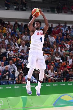 Jimmy Butler of the USA Basketball Men's National Team shoots against Argentina…