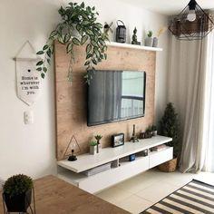 Small House Interior Design, Home Room Design, Tiny Living Rooms, Home Living Room, Rectangular Living Rooms, Living Room Tv Unit Designs, Aesthetic Room Decor, Living Room Inspiration, Inspiration Wall