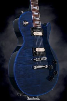 Gibson Custom Sweetwater Les Paul Custom - Stingray Blue | Sweetwater.com