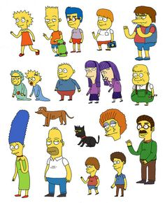 Simpsons drawn from memory by Jack Teagle on Flickr.
