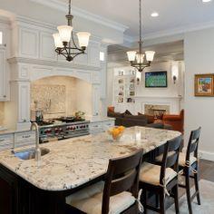 White Kitchen With Alaska Granite Design Ideas, Pictures, Remodel and Decor