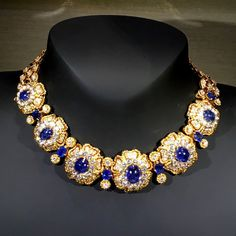 A transformable sapphire, diamond and yellow gold necklace, Van Cleef & Arpels, circa 1970