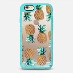 Pineapple Beach - New Standard Case in Teal and Clear by @nikkistrange | @casetify