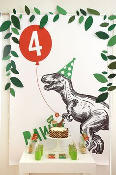 Rawr! Time for an epic Dinosaur Birthday Party. Dinosaur Invitations, Birthday Party Invitations, 3rd Birthday Parties, Fourth Birthday, Dinosaur Birthday Party, Birthday Party Decorations, Dinosaur Party Decorations, Birthday Backdrop, Birthday Ideas