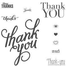Another Thank You Photopolymer Stamp Set by Stampin' Up!