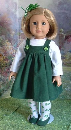 St Patricks Day Jumper Top and Tights and by MyGirlClothingCo, $28.00