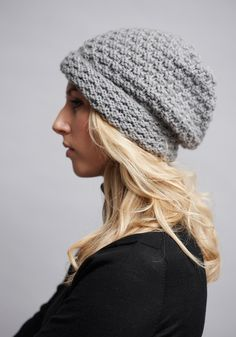 The women's beanie gives the novice knitter an opportunity to master circular needles and working 'in the round'. The men's beanie is worked with...