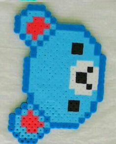 Oso azul hama beads.