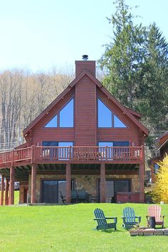 Raccoon Lagoon - 5 bedrooms, great lake view, easy walk down to lake (no long stairway to lake), hot tub