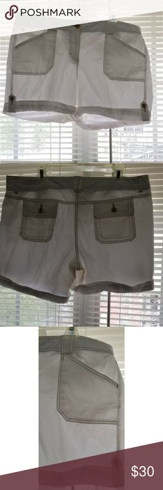 "Tommy Hilfiger Shorts 16 See Thru These Tommy Hilfiger shorts are in great condition.  They are see-through so they would be a great bathing suit bottom cover up.  Waist 18"" Inseam 7"" Outside leg seam 17""  My home is smoke free and pet free. Tommy Hilfiger Shorts"