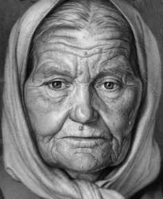 Ivan Tafrov's drawing of his Grandmother.   https://m.facebook.com/ivan.tafrov.9?id=100001365605720&_rdr