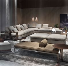 Bekleding Flexform\'s Long Island sofa adorns this chic living room ...