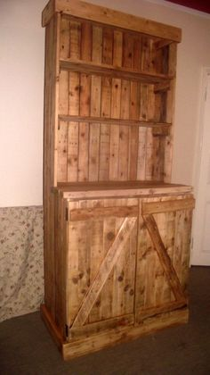 Pallet Designs Dresser Pallet Dresser in pallets 2 furniture with Pallets Furniture Dress - The entire dresser was made from repurposed wooden pallets that were heading for the landfill. The total cost to make … Pallet Dresser, Dresser Plans, Pallet Furniture, Pallet Cabinet, Wood Dresser, Recycled Furniture, Dresser Furniture, Pallet Shelves, Furniture Design
