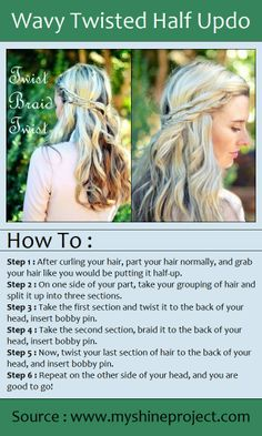 Wavy Twisted Half Updo | PinTutorials perfect for dressing up as Danerys for Halloween!