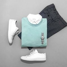 men's fasion outfits grid style inspiration for guys fashion Men Style Tips, Gq Style, Stylish Men, Men Casual, Stylish Clothes, Casual Chic, Suits And Sneakers, Sneakers Women, Cool Outfits