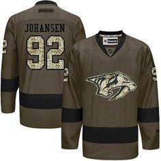 #Predators #92  #Ryan  #Johansen Green Salute to Service  #StitchedNHLJersey