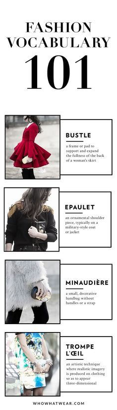 Must-know fashion terms to study up on