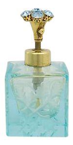 cut glass perfume bottle with rhinestone detail. Perfumes Vintage, Antique Perfume Bottles, Vintage Bottles, Vases, Light Blue Perfume, Beautiful Perfume, Turquoise, Glass Bottles, Mason Jars