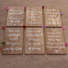 Corinthians 13 Love is Patient Wedding Aisle Signs by TheSignPatch
