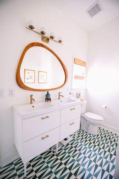 Beautiful master bathroom decor some ideas. Modern Farmhouse, Rustic Modern, Classic, light and airy master bathroom design a few ideas. Bathroom makeover a few ideas and bathroom renovation ideas. Modern Bathroom Design, Bathroom Renovation Diy, Bathrooms Remodel, Bathroom Makeover, Diy Bathroom Makeover, Bathroom Mirror, Mid Century Modern Bathroom, Bathroom Renovations, Bathroom Design