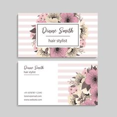 Unique Business Cards, Business Card Design, Estilo Floral, Iris Art, Graphic Projects, Flower Doodles, Floral Style, Business Fashion, Wall Prints