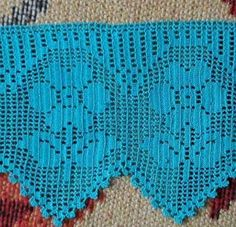 This Pin was discovered by Nur Crochet Lace Edging, Crochet Square Patterns, Crochet Borders, Thread Crochet, Filet Crochet, Diy Crochet, Crochet Doilies, Crochet Stitches, Crochet Toys