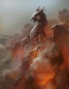 Immortalism and Interplanetarianism Heat by Jens Kuczwara Dnd Dragons, Cool Dragons, Dragon Images, Dragon Pictures, Fantasy Dragon, Fantasy Art, Fantasy Creatures, Mythical Creatures, Dragon Artwork