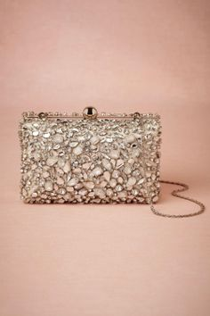 This jeweled clutch purse is beautiful. #wedding #bridal #gift #bridesmaids #purse #evening #party #dance
