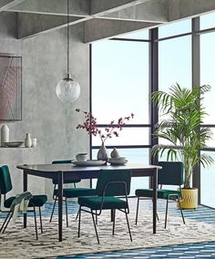 Here's the latest in west elm's new furniture collection, where you'll find up-to-date modern styles for your living room, bedroom or any place in your home. Teal Dining Chairs, Upholstered Dining Chairs, Accent Chairs, Dining Decor, Kitchen Chairs, Room Kitchen, Kitchen Living, Dining Area, Dressing Chair