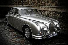 Shiny Jaguar Mark 2 one the streets of Paris.