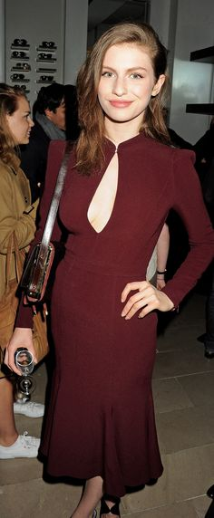 Tali Lennox wearing Burberry to the Burberry party for London Collcetions