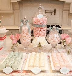 Pretty pastel sweets.