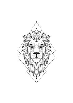 Tattoo Drawing - Drawing of a lion tattoo. A mix of art and geometry -Lion Tattoo Drawing - Drawing of a lion tattoo. A mix of art and geometry - lion tattoo with geometric touches © tattoo artist Mike Sledz ❤❤❤❤❤ Tattoo . Hand Tattoos, Leo Tattoos, Animal Tattoos, Cute Tattoos, Sleeve Tattoos, Tattoos For Guys, Flower Tattoos, Small Tattoos, Family Tattoos