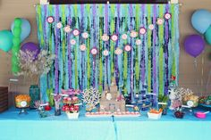 Mermaid Party - The food table