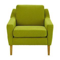 Stoffsessel, grün
