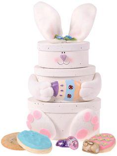 Easter Bunny Treats Tower - $42.  SO CUTE!