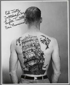 From our collection: Ed Toty tattooed by Lyle Tuttle