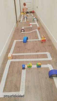 Love, love this idea. Use wide masking tape to create streets on the floor.