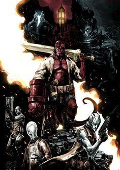 Hellboy and B.P.R.D. by naratani.deviantart.com on @DeviantArt