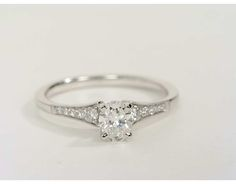 0.38 Carat Diamond Graduated Milgrain Diamond Engagement Ring | Recently Purchased | Blue Nile