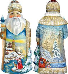 G.DeBrekht Santas Large Hand Carved