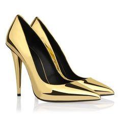 Scarpin - Espelhado Dourado