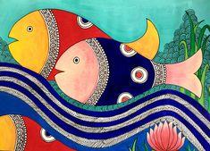 Madhubani Paintings Peacock, Madhubani Art, Indian Art Paintings, Pichwai Paintings, Gond Painting, Art Painting Gallery, Fabric Painting, Mural Art, Art Art