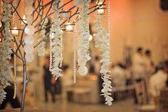 Filipino Centerpiece idea: Hanging Capiz shells and orchids (alternate 1 of 2 design on tables? Reception Decorations, Wedding Centerpieces, Filipino Wedding Traditions, Rose Wedding, Dream Wedding, Filipiniana Wedding Theme, Wedding Design Inspiration, Wedding Designs, Wedding Ideas