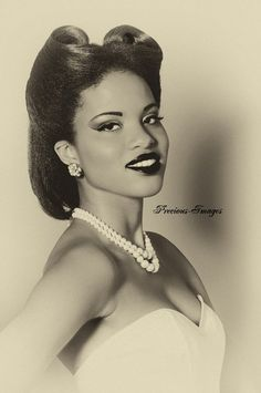 ebony pin up  | black pin ups | Tumblr
