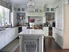 White Kitchen Cabinets With Dark Countertops White Kitchen Cabinets1 Pinterest Grey Granite Countertops Countertops And White Countertops
