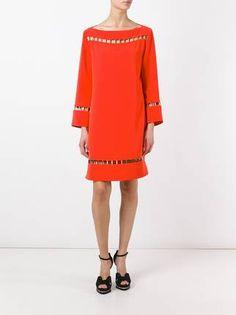 Versace Collection vestido de tubo con detalle de perforaciones aa51121cf9a2